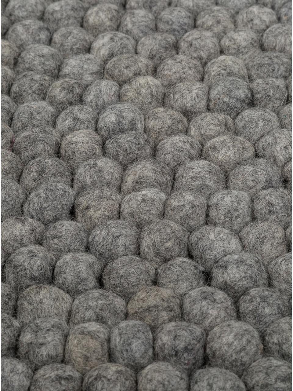 Tappeto rotondo in lana cucito a mano Dot, Grigio acciaio, Ø 90 cm (taglia XS)