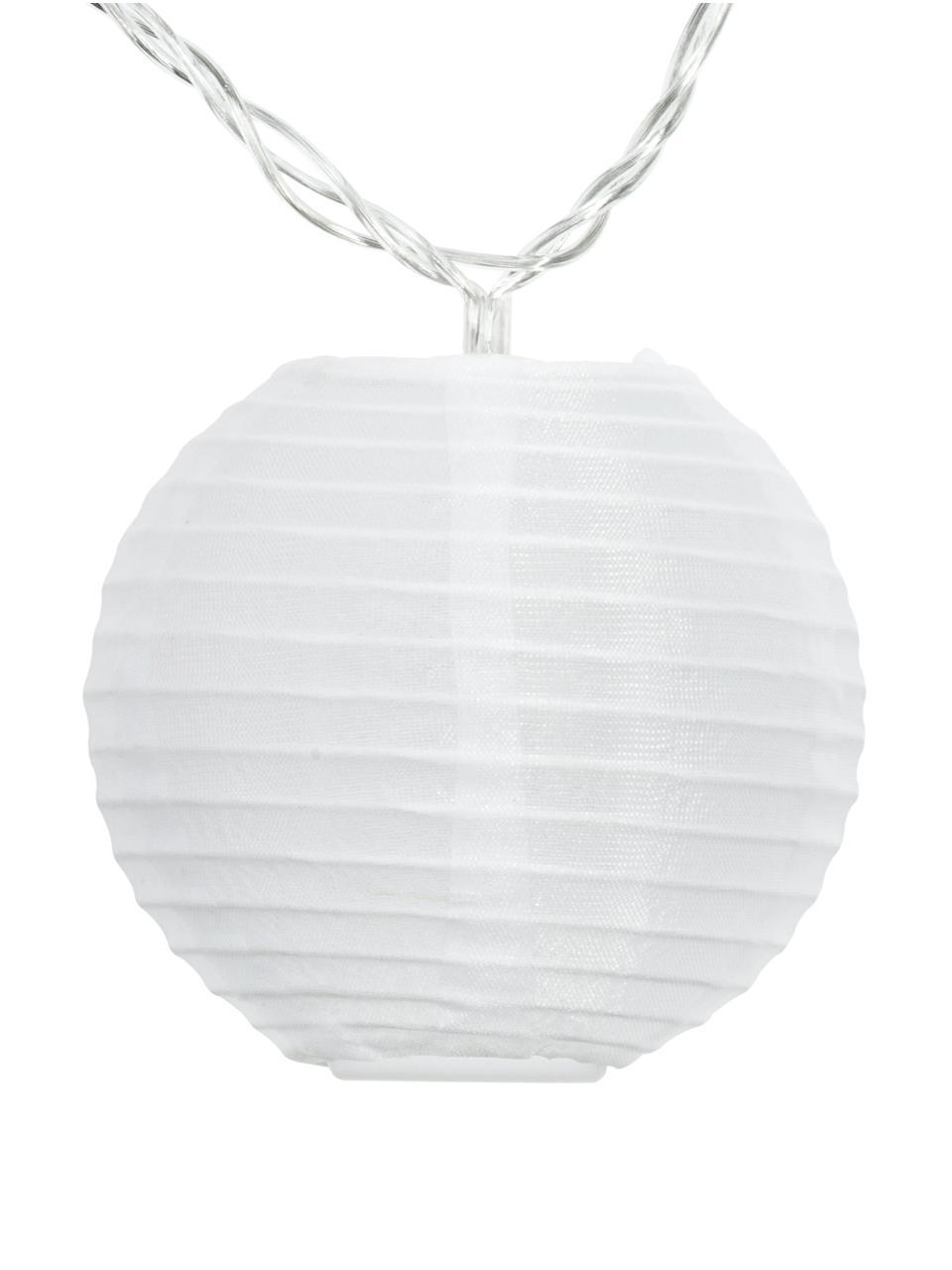 LED-Lichterkette Lampion, 450 cm, Lampions: Polyester, Weiß, L 450 cm