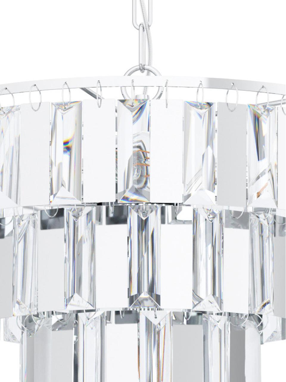 Kryształowy żyrandol Erseka, Transparentny, chrom, Ø 39 cm