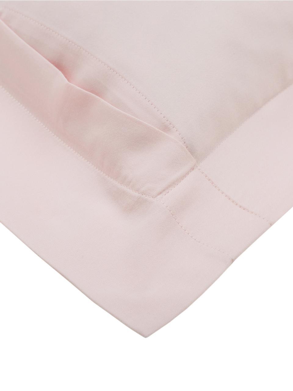 Baumwollsatin-Kissenbezüge Premium in Rosa mit Stehsaum, 2 Stück, Webart: Satin Fadendichte 400 TC,, Rosa, 40 x 80 cm