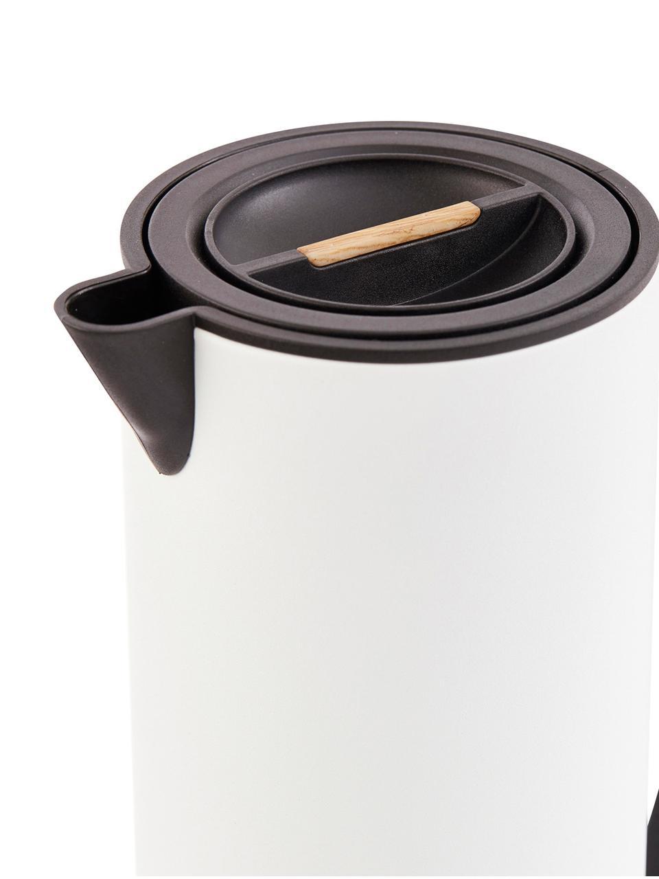 Brocca isotermica Java, 1 L, Brocca: metallo, rivestito, Coperchio: legno, metallo, rivestito, Bianco, nero, 1 l