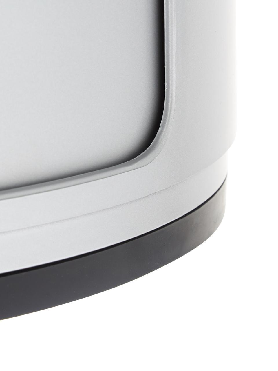 Comodino di design con cassetti Componibile, ABS metallizzato, Argentato, Ø 32 x Alt. 40 cm