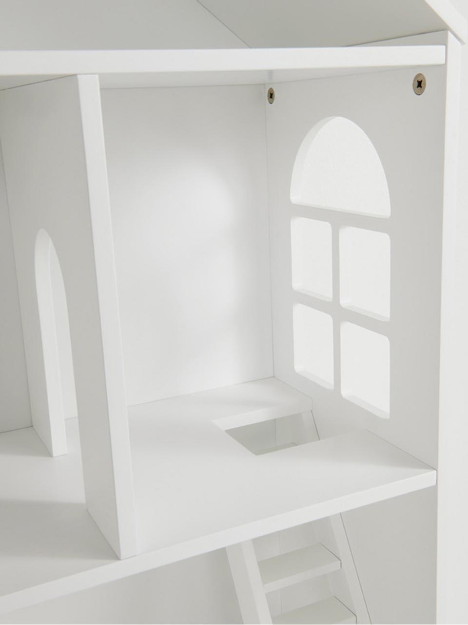 Spielhaus Mi Casa Su Casa, Kiefernholz, Mitteldichte Holzfaserplatte (MDF), Weiß, Schwarz, 61 x 106 cm