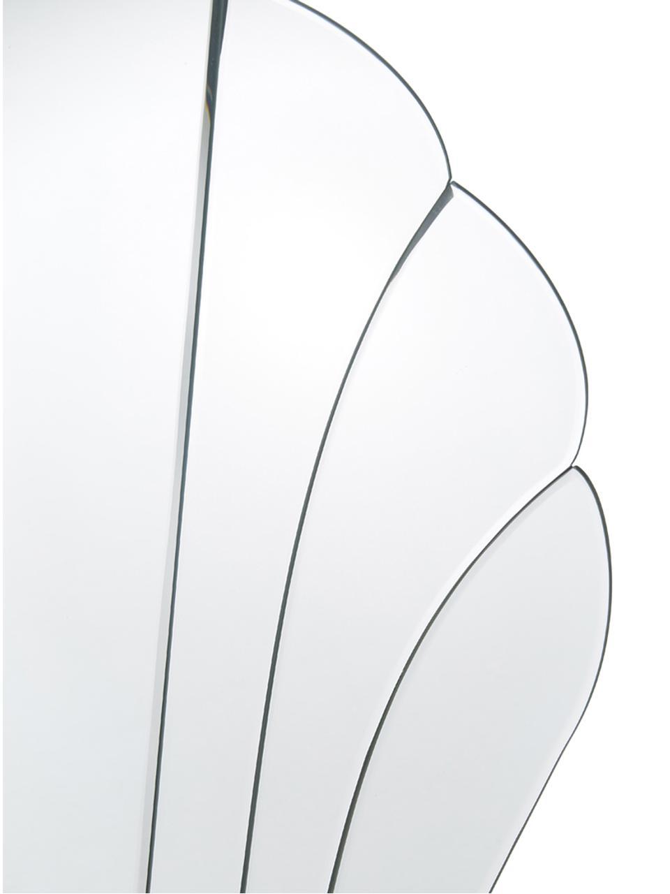Wandspiegel Helix in schelp vorm, Onderzijde: MDF, Spiegelvlak: spiegelglas, 50 x 60 cm