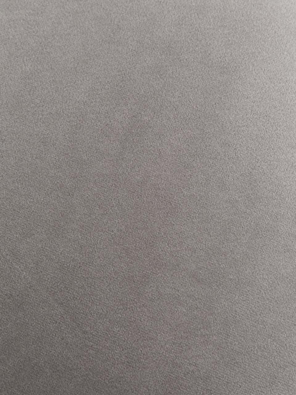 Puf z aksamitu z miejscem do przechowywania Winou, Tapicerka: Bouclé (100% poliester) D, Korpus: metal, Szary, 55 x 46 cm