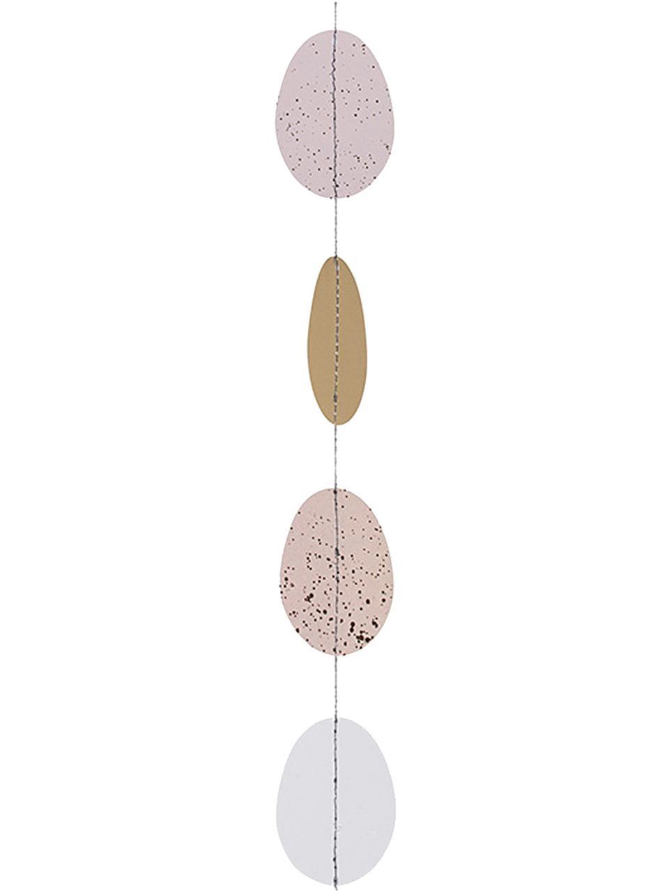 Girlande Easter Eggs, Papier, Mehrfarbig, 7 x 140 cm