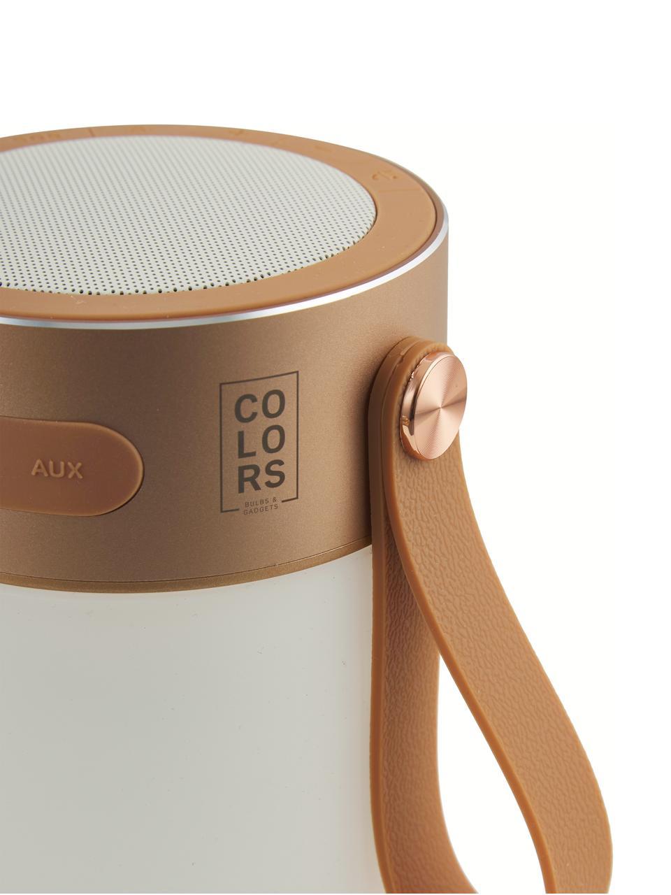 Lampada a LED da esterno portatile Sound Jar, Quadrante: metallo, Paralume: materiale sintetico, Color rame, bianco, Ø 9 x Alt. 14 cm