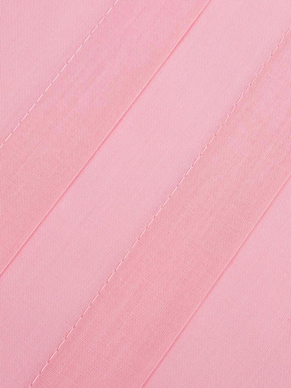 Renforcé dekbedovertrek Chambre, Weeftechniek: renforcé, Roze, 140 x 220 cm