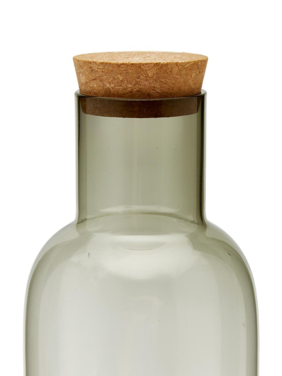 Karaf Clearance in grijs transparant, 1 L, Deksel: kurk, Grijs, transparant, 1 L