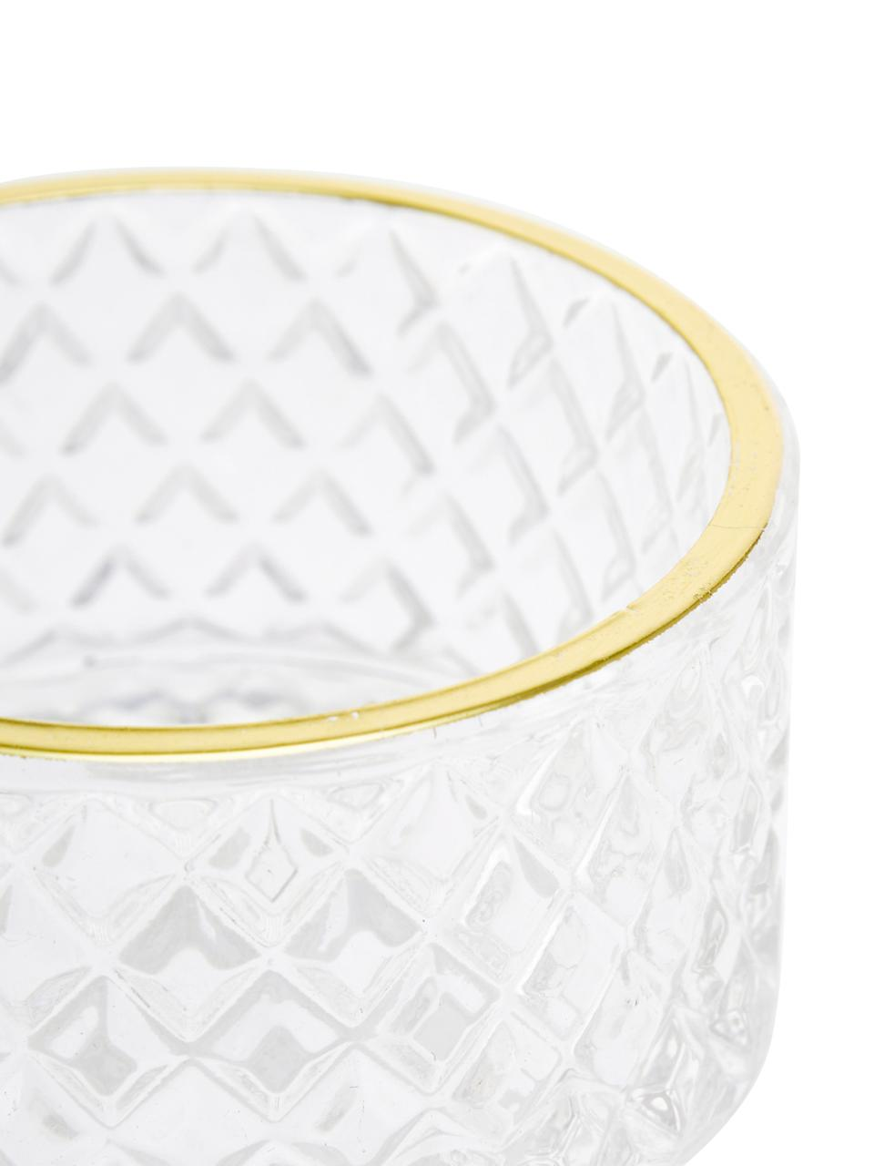 Aufbewahrungsdose Freser, Rand: Metall, beschichtet, Goldfarben, Transparent, Ø 9 x H 10 cm