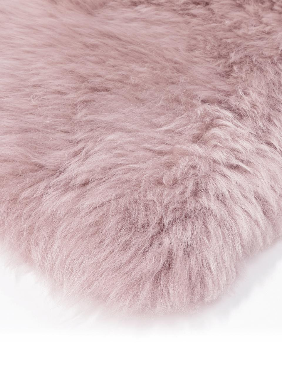 Pelliccia di pecora Oslo, Retro: 100% pelle, rivestito sen, Rosa, Larg. 60 x Lung. 90 cm