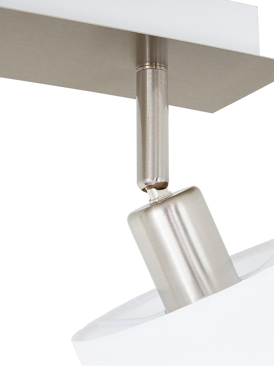 Deckenstrahler Casper, Baldachin: Metall, vernickelt, Silberfarben,Weiß, 56 x 7 cm
