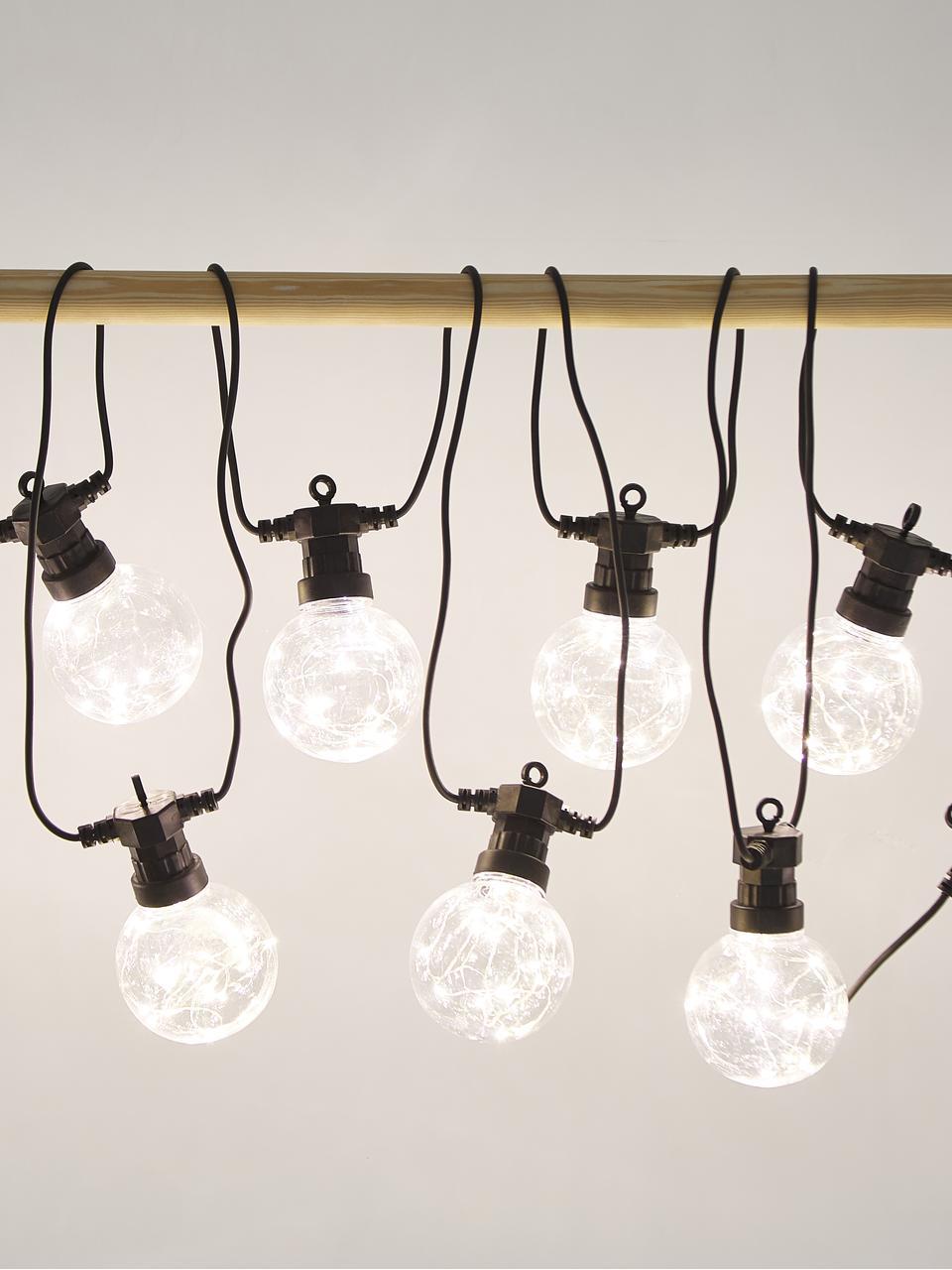 Girlanda świetlna LED Crackle Chain, 750 cm i 10 lampionów, Transparentny, D 750 cm