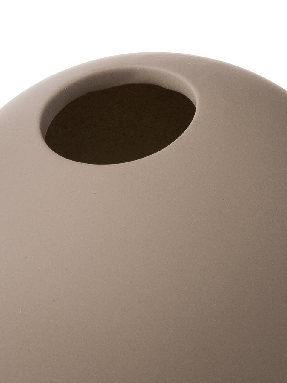 Handgefertigte Kugel-Vase Ball, Keramik, Taupe, Ø 20 x H 20 cm