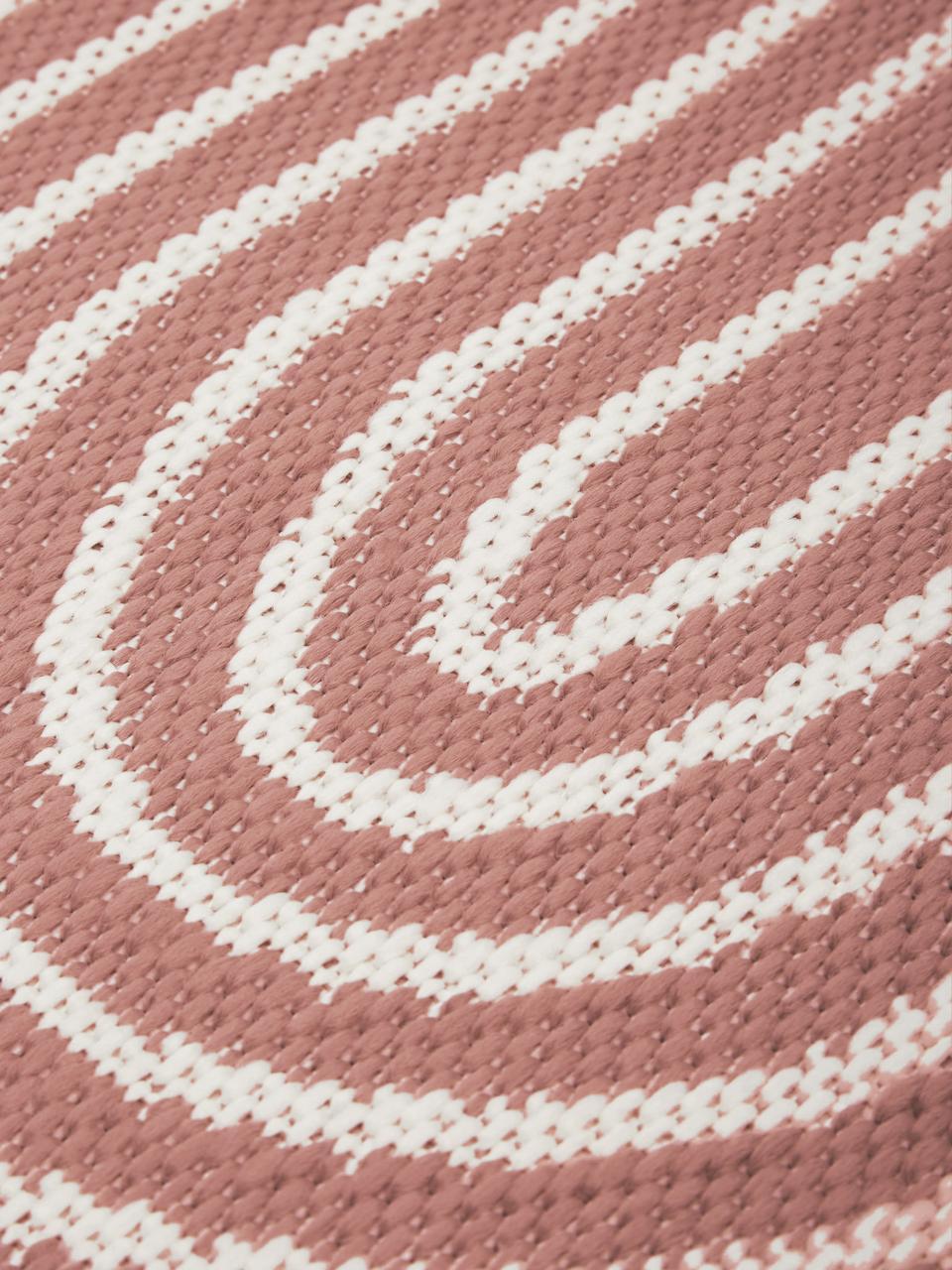 Tappeto da interno-esterno corallo/bianco crema Arches, 86% polipropilene, 14% poliestere, Rosso, bianco, Larg. 200 x Lung. 290 cm (taglia L)