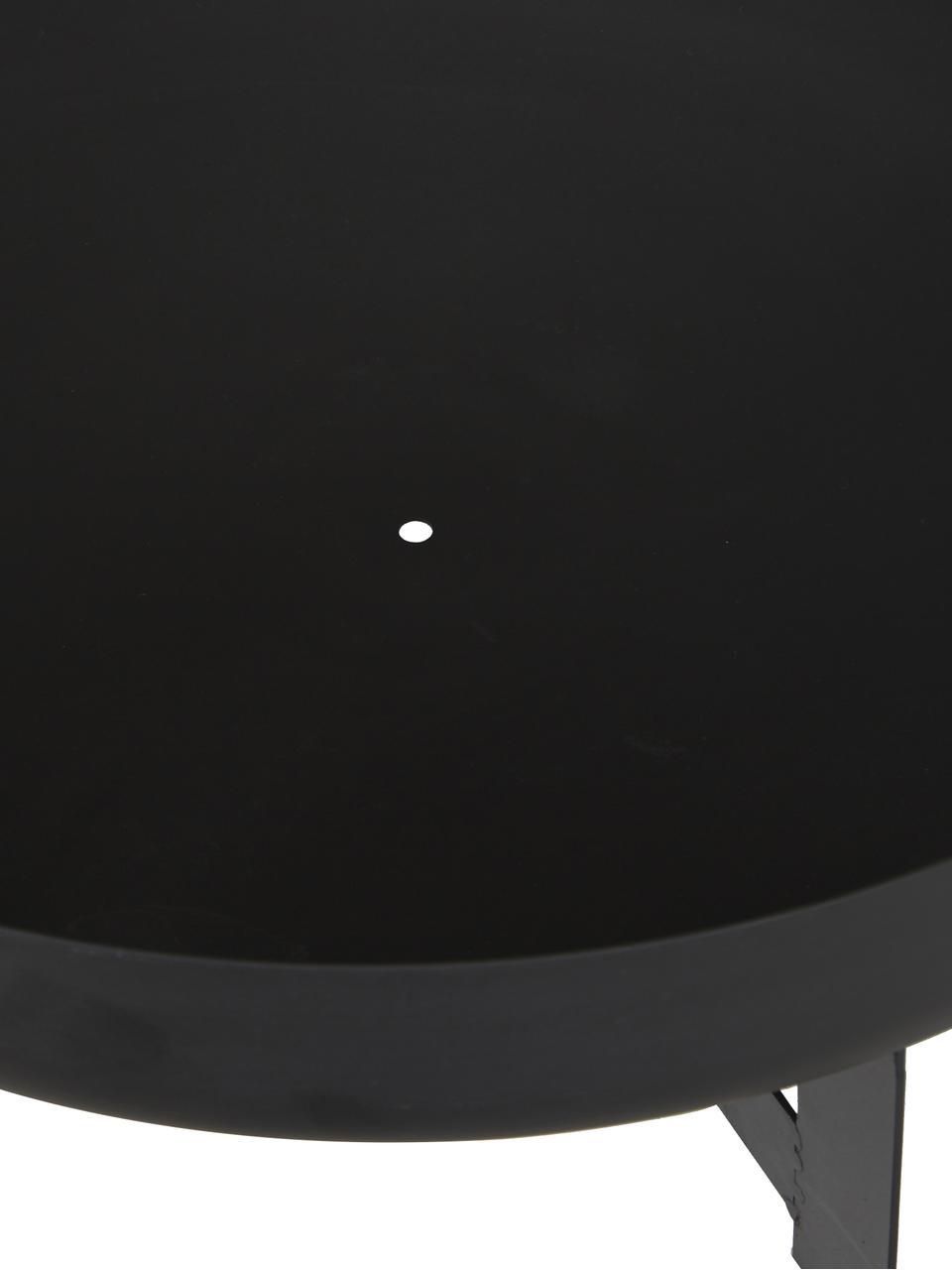 Palenisko Efesto, Stal malowana proszkowo, odporna na wysokie temperatury, Czarny, Ø 60 x W 24 cm