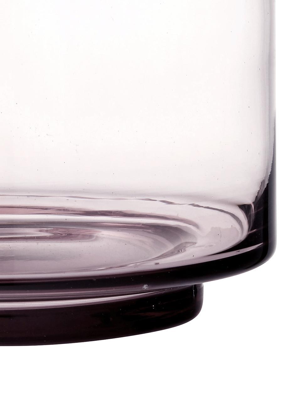 Mundgeblasene Vase Hedria, klein, Glas, Rosa, transparent, Ø 18 x H 16 cm