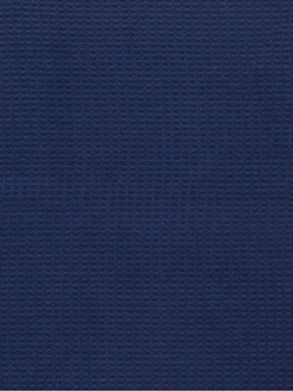 Plaid a nido d'ape Sara, 50% cotone, 50% acrilico, Blu scuro, Larg. 140 x  Lung.180 cm