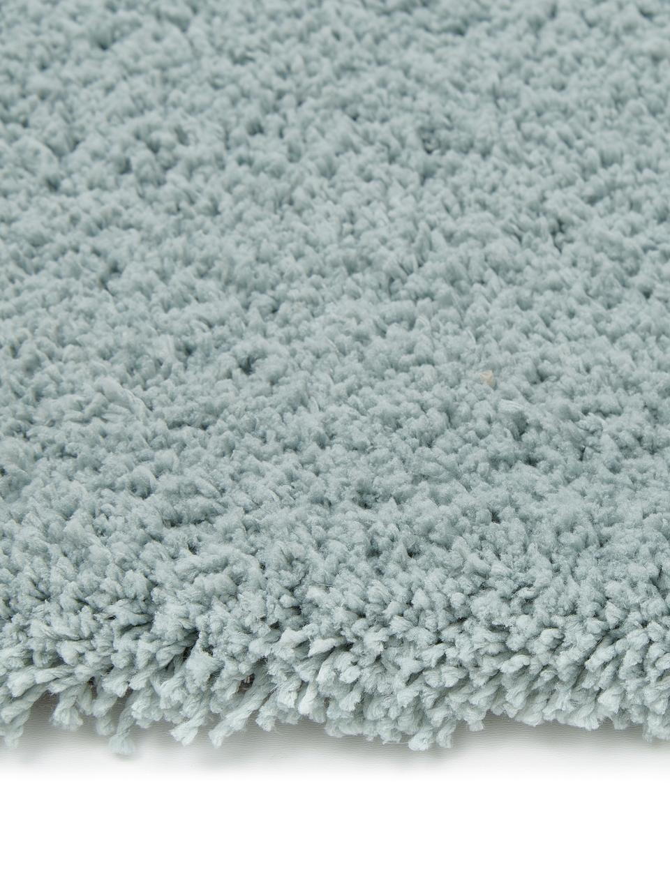 Flauschiger runder Hochflor-Teppich Leighton in Mintgrün, Flor: 100% Polyester (Mikrofase, Mintgrün, Ø 200 cm (Größe L)