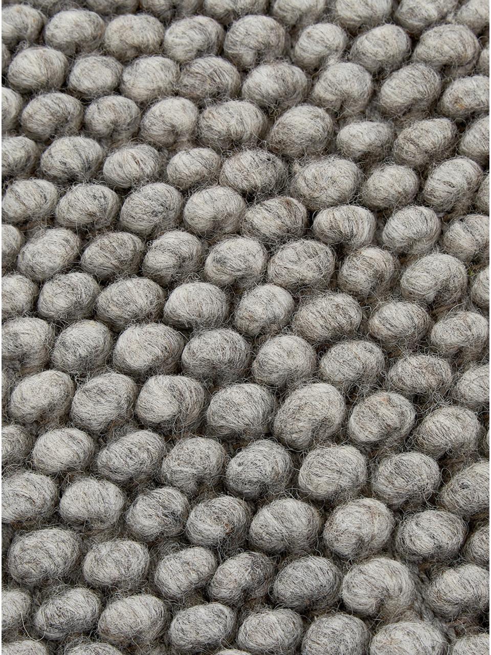 Handgenähter Wollteppich My Loft in Hellgrau meliert, Flor: 60% Wolle, 40% Viskose, Silbergrau, B 160 x L 230 cm (Größe M)