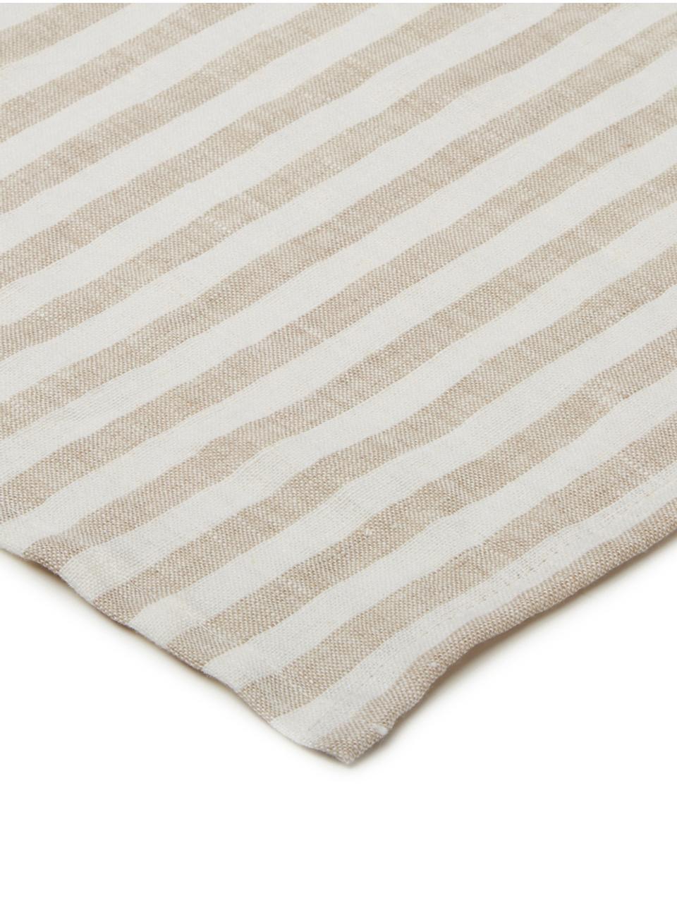 Tovagliolo in lino Solami 6 pz, Lino, Beige, bianco, Larg. 46 x Lung. 46 cm