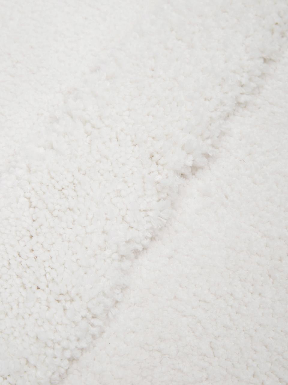 Tappeto boho a pelo lungo con motivo a rilievo Magda, Retro: 55% poliestere, 45% coton, Beige, Larg. 200 x Lung. 300 cm (taglia L)