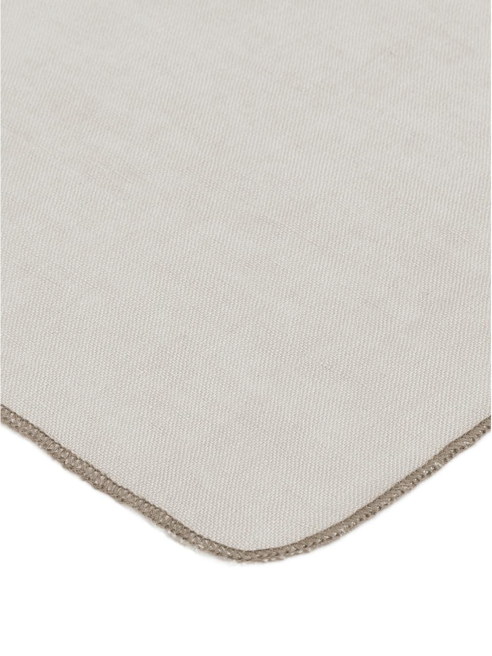 Linnen servetten Gracie, 2 stuks, Natuurlijk linnen, Grijs, 45 x 45 cm