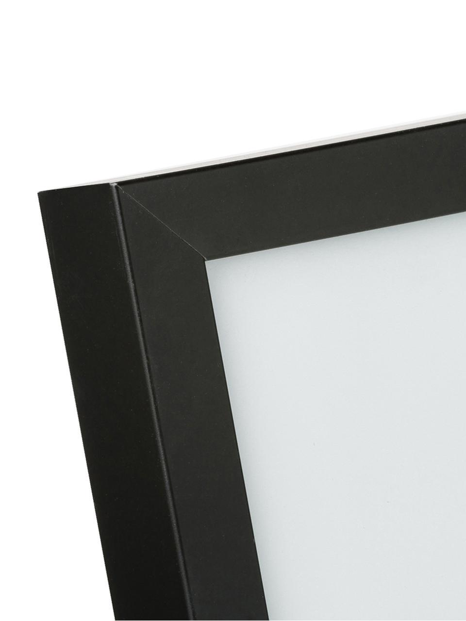 Stampa digitale incorniciata Carpe Diem, Immagine: stampa digitale, Cornice: struttura di legno reale, Immagine: nero, bianco<br>Cornice: nero, L 30 cm x A 40 cm