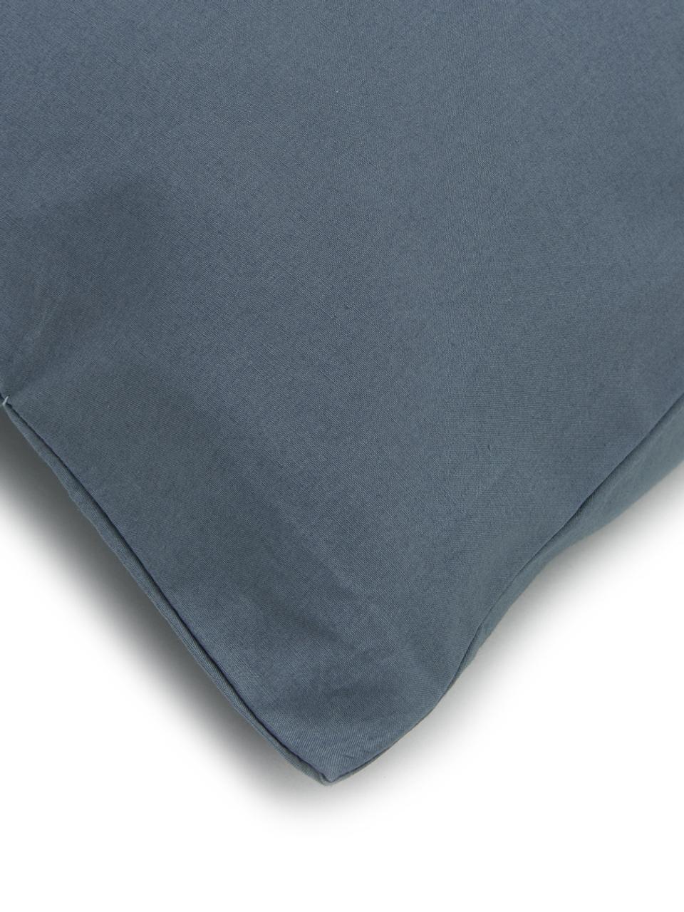 Baumwollperkal-Bettwäsche Elsie in Blau, Webart: Perkal Fadendichte 200 TC, Blau, 240 x 220 cm + 2 Kissen 80 x 80 cm