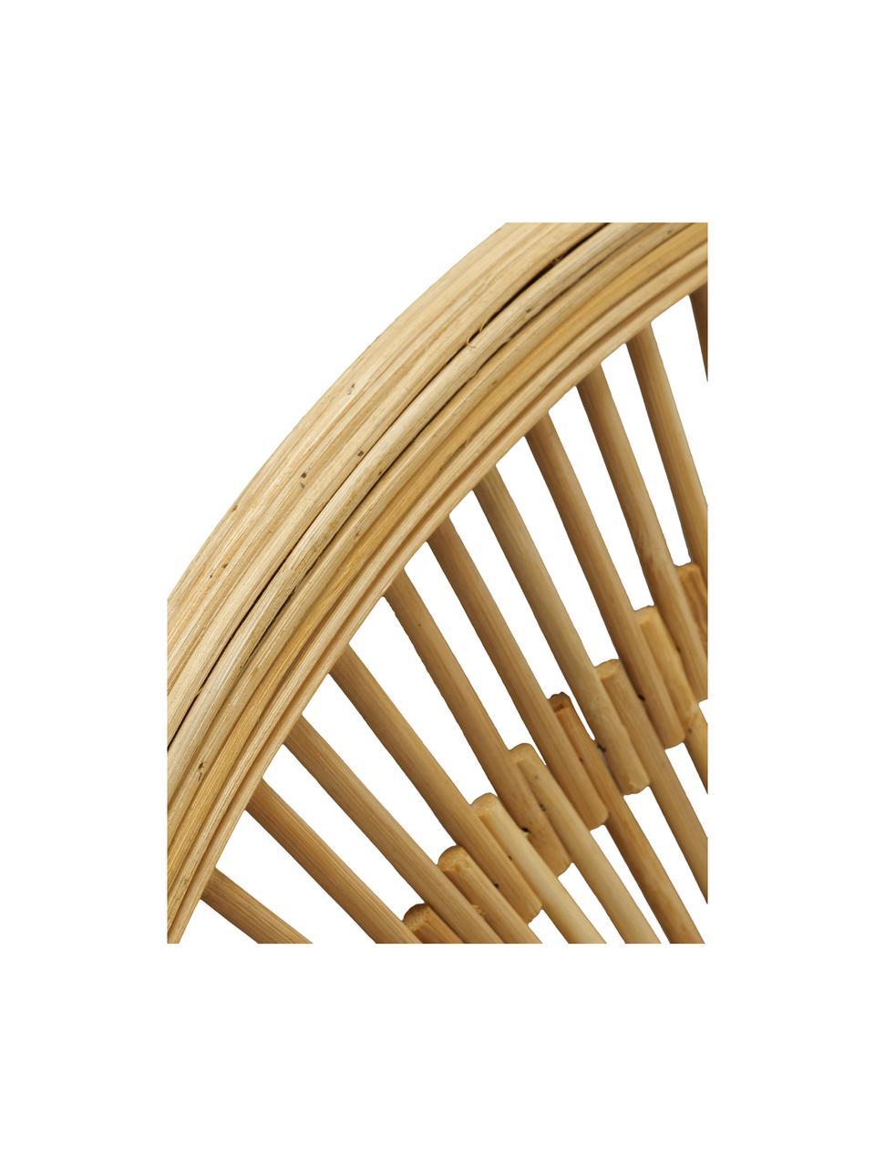 Runder Wandspiegel Girona mit Bambusrahmen, Rahmen: Bambus, Spiegelfläche: Spiegelglas, Braun, Ø 51 cm