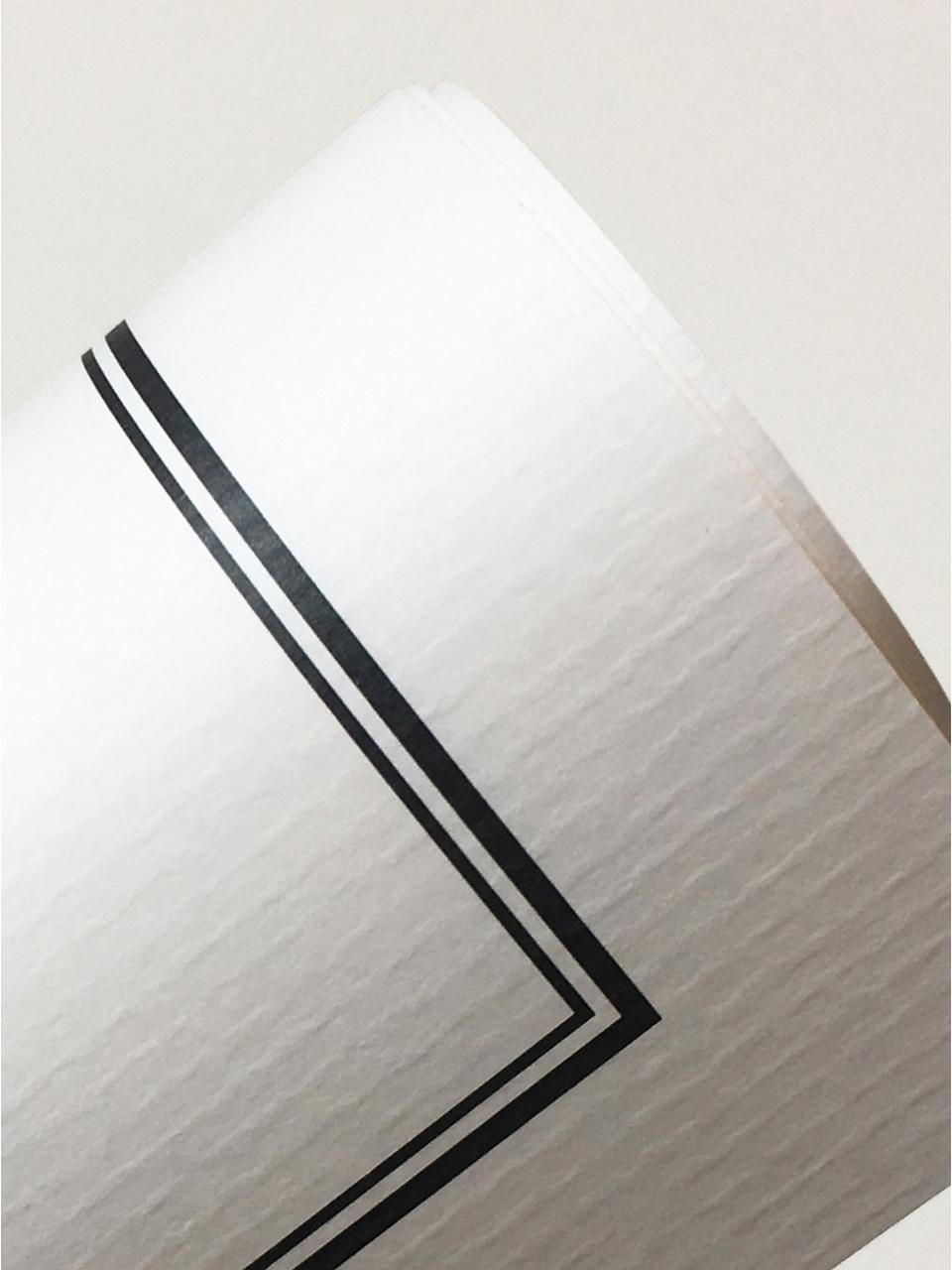 Gerahmter Digitaldruck Amsterdam, Bild: Digitaldruck auf Vergé-Pa, Rahmen: Holz, lackiert, Front: Plexiglas, Bild: Schwarz, WeißRahmen: Schwarz, matt, 42 x 53 cm