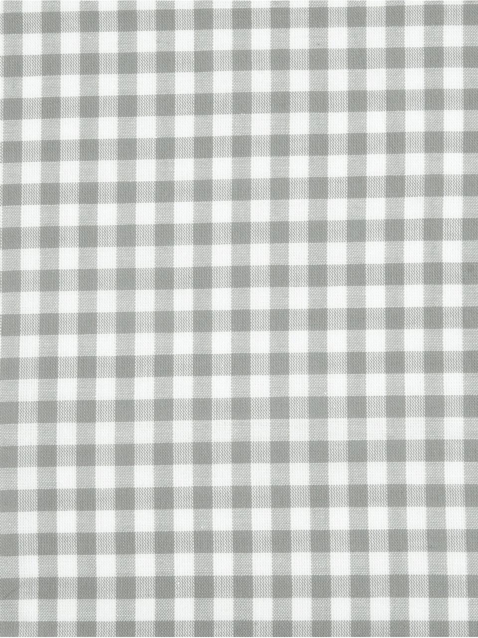 Karierte Baumwoll-Bettwäsche Scotty in Grau/Weiß, 100% Baumwolle  Fadendichte 118 TC, Standard Qualität  Bettwäsche aus Baumwolle fühlt sich auf der Haut angenehm weich an, nimmt Feuchtigkeit gut auf und eignet sich für Allergiker, Hellgrau/Weiß, 135 x 200 cm + 1 Kissen 80 x 80 cm