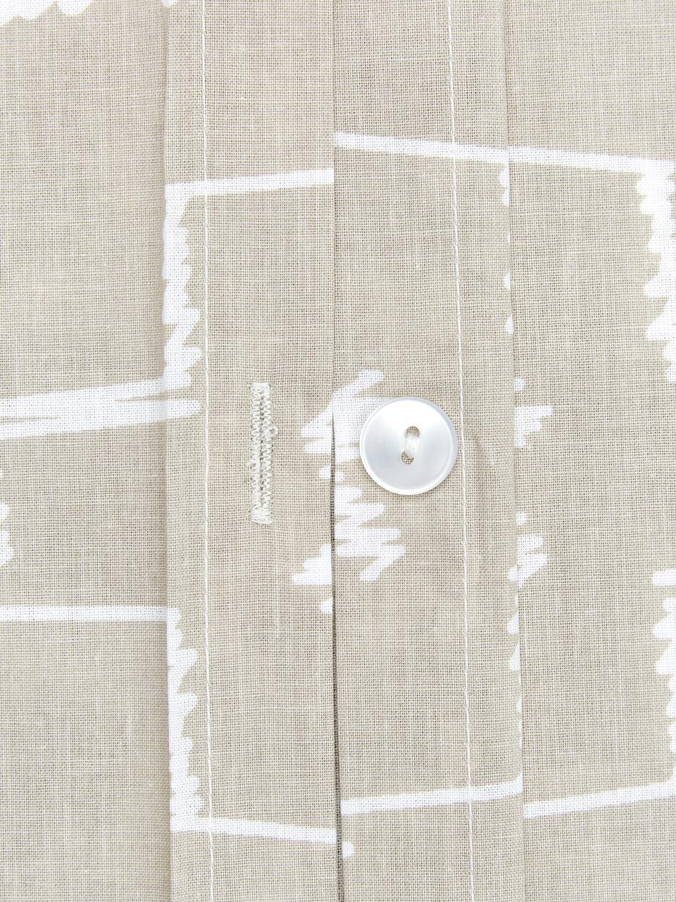 Baumwoll-Bettwäsche Kamila mit Bohomuster, Webart: Renforcé Fadendichte 144 , Beige, 135 x 200 cm + 1 Kissen 80 x 80 cm