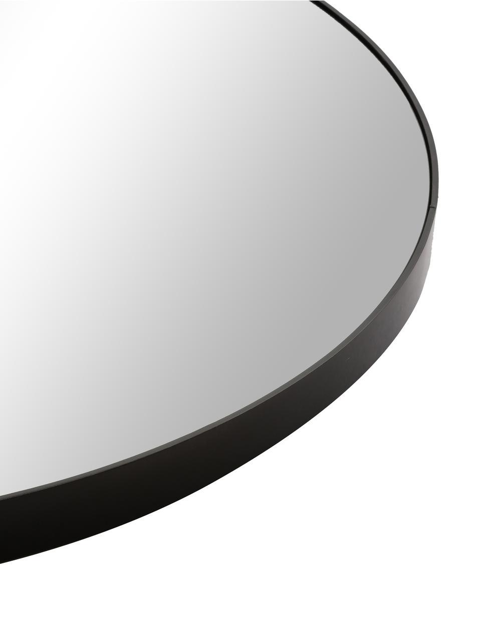 Runder Wandspiegel Complete mit schwarzem Rahmen, Rahmen: Mitteldichte Holzfaserpla, Spiegelfläche: Glas, Schwarz, Ø 110 cm