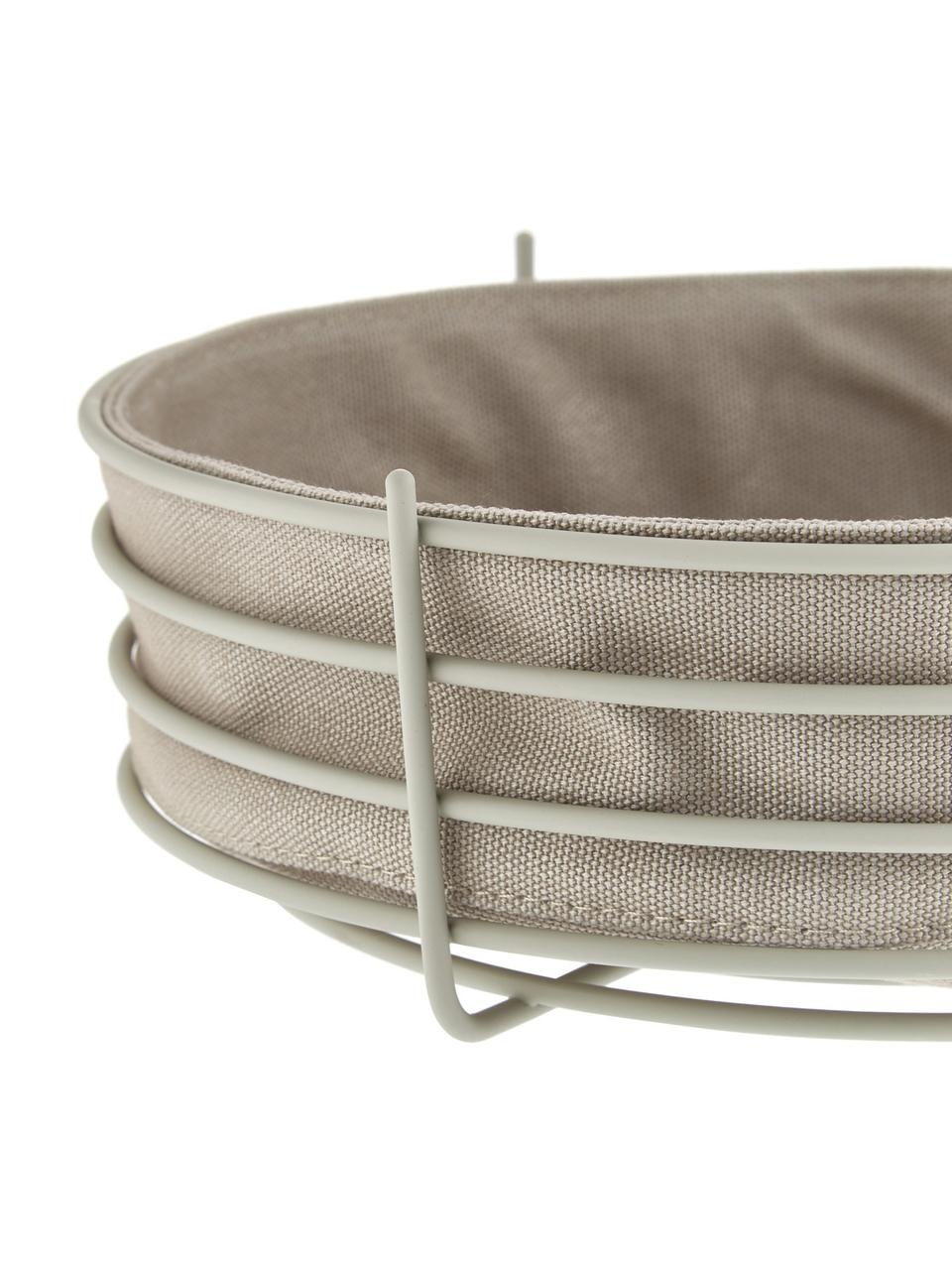 Brotkorb Gola mit herausnehmbarem Einsatz, Brotkorb: Metall, beschichtet, Beige, Ø 26 x H 8 cm