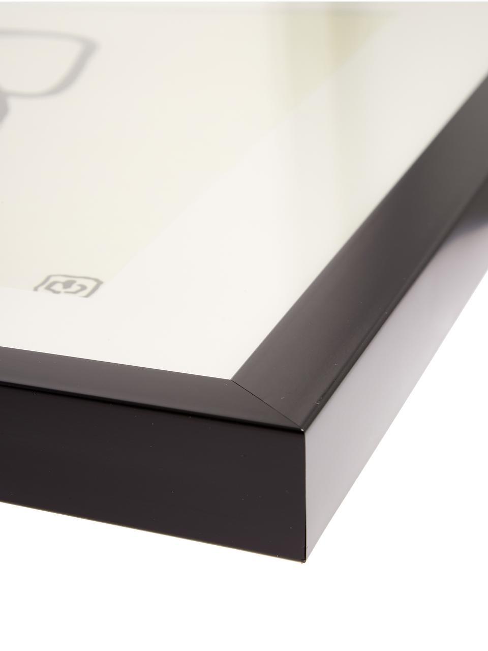 Gerahmter Digitaldruck Akt Lady III, Bild: Digitaldruck, Rahmen: Kunststoff, Front: Glas, Bild: Schwarz, Beige<br>Rahmen: Schwarz, 40 x 40 cm