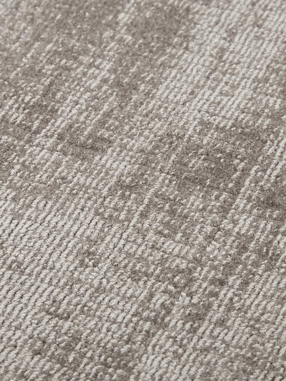 Tappeto in viscosa tessuto a mano Jane, Retro: 100% cotone, Taupe, Larg. 120 x Lung. 180 cm (taglia S)