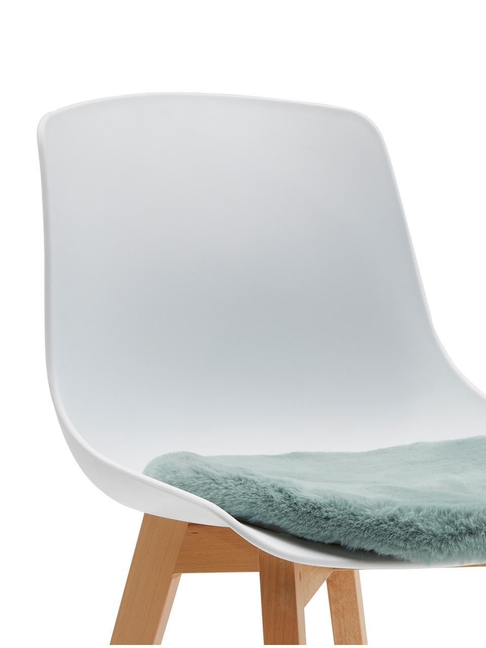 Galette de chaise en fourrure synthétique lisse Mette, Vert