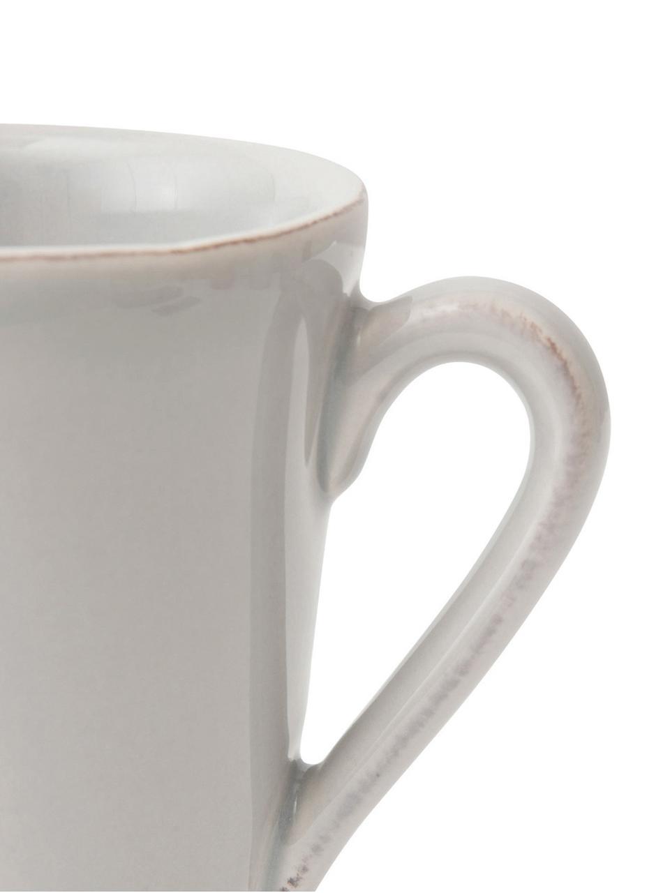 Tazza grigio chiaro Costance 2 pz, Terracotta, Grigio chiaro, Ø 9 x Alt. 10 cm