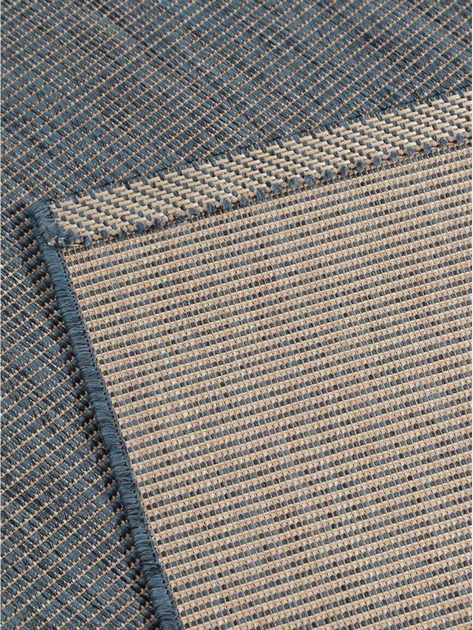 Dywan wewnętrzny/zewnętrzny Metro, Polipropylen, Niebieski, S 240 x D 340 cm (Rozmiar L)