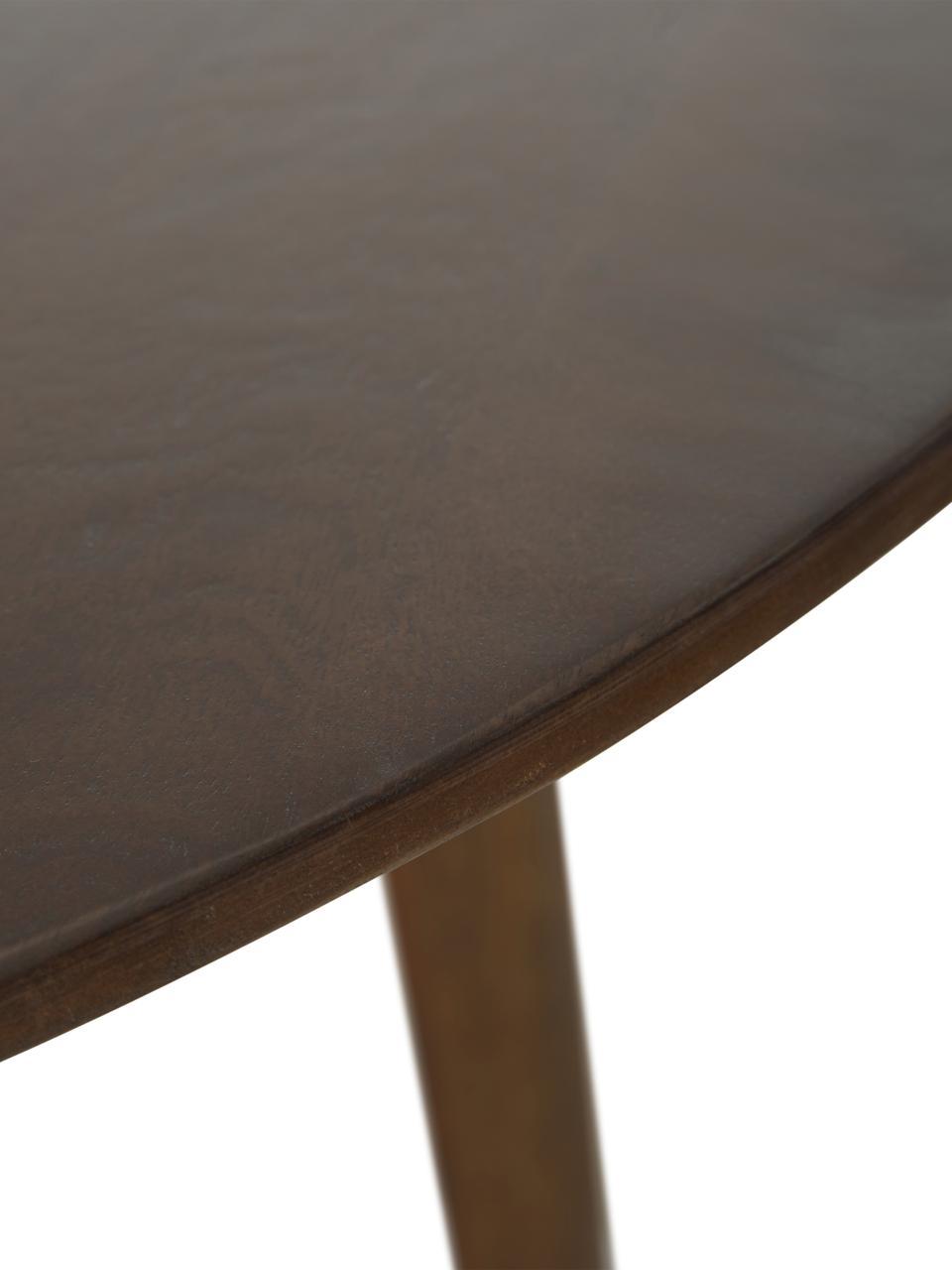 Runder Massivholz Esstisch Archie, Massives Mangoholz, lackiert, Mangoholz, dunkel lackiert, Ø 110 x H 75 cm