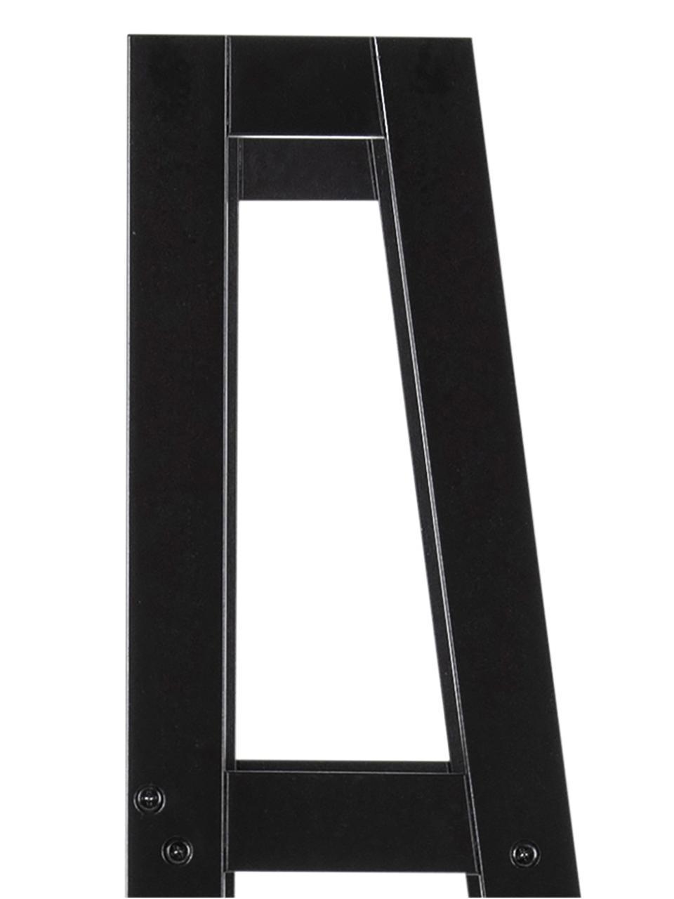 Wandrek Wally in zwart, Gelakt MDF, Zwart, 63 x 180 cm