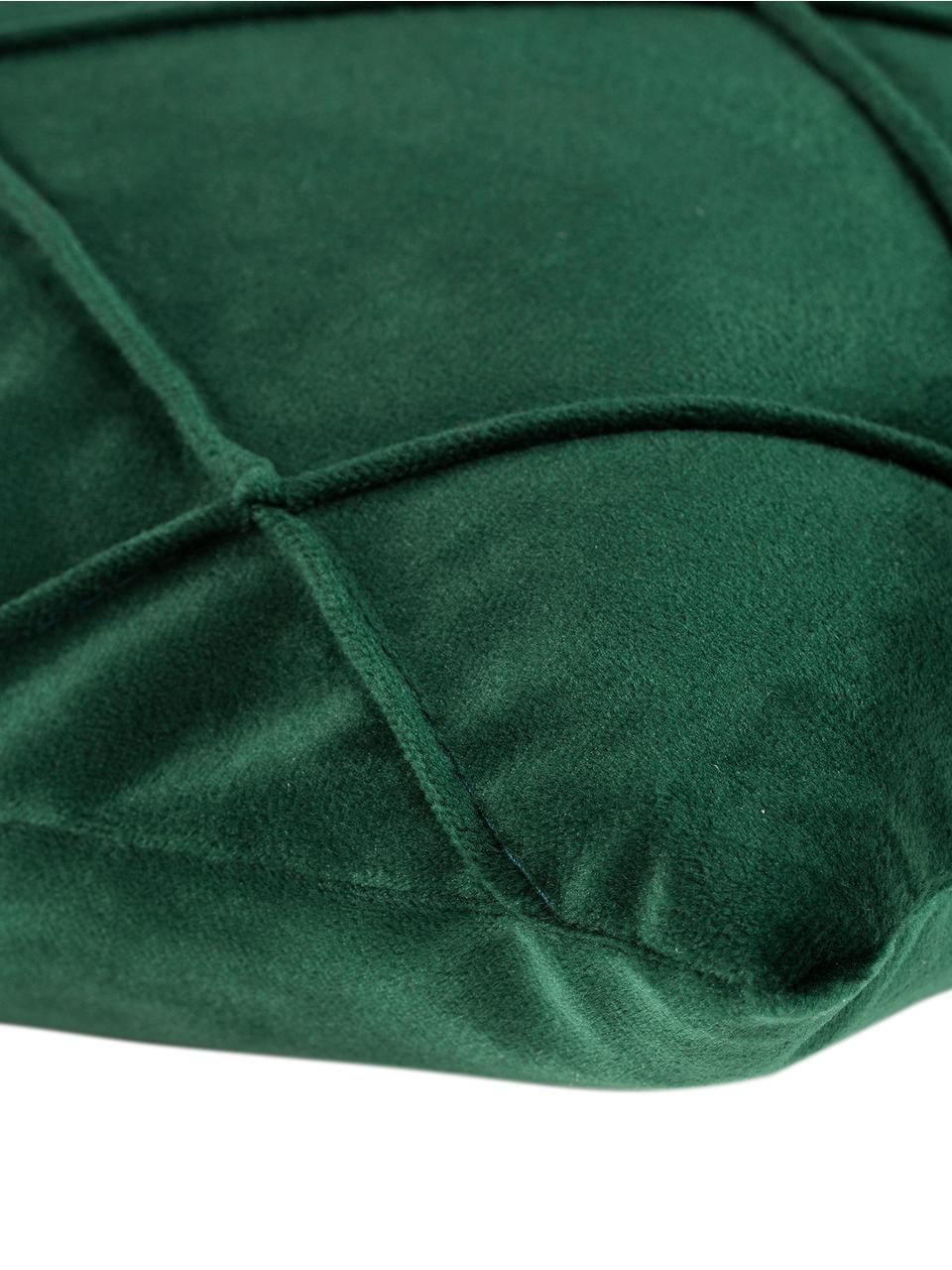Funda de cojín de terciopelo Nobless, 100%terciopelo de poliéster, Verde, An 50 x L 50 cm