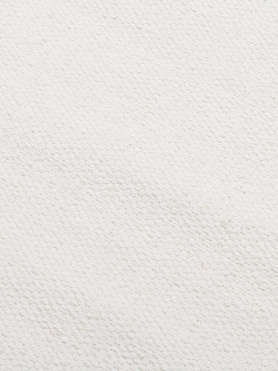 Tappeto in cotone tessuto a mano Agneta, 100% cotone, Bianco crema, Larg. 200 x Lung. 300 cm (taglia L)