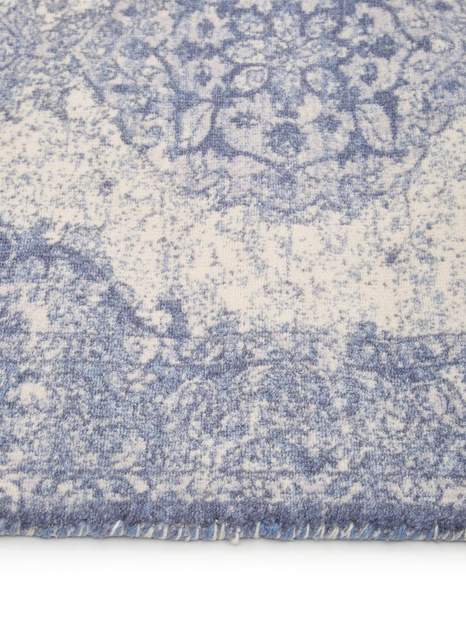 Teppich Elegant im Vintage Style, Flor: 100% Nylon, Blau, B 80 x L 150 cm (Größe XS)