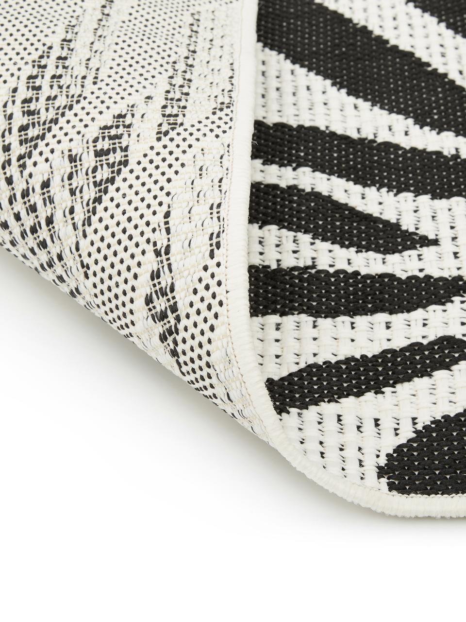 In- & Outdoor-Teppich Exotic mit Zebra Print, 86% Polypropylen, 14% Polyester, Cremeweiß, Schwarz, B 160 x L 230 cm (Größe M)