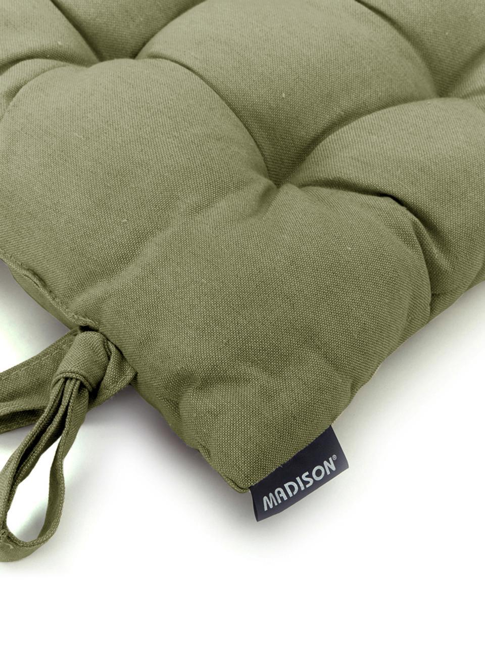 Poduszka na siedzisko Panama, Tapicerka: 50% bawełna, 45% polieste, Szałwiowy zielony, S 45 x D 45 cm