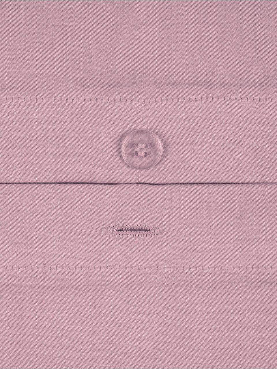 Pościel z satyny bawełnianej Comfort, Fioletowy, 135 x 200 cm