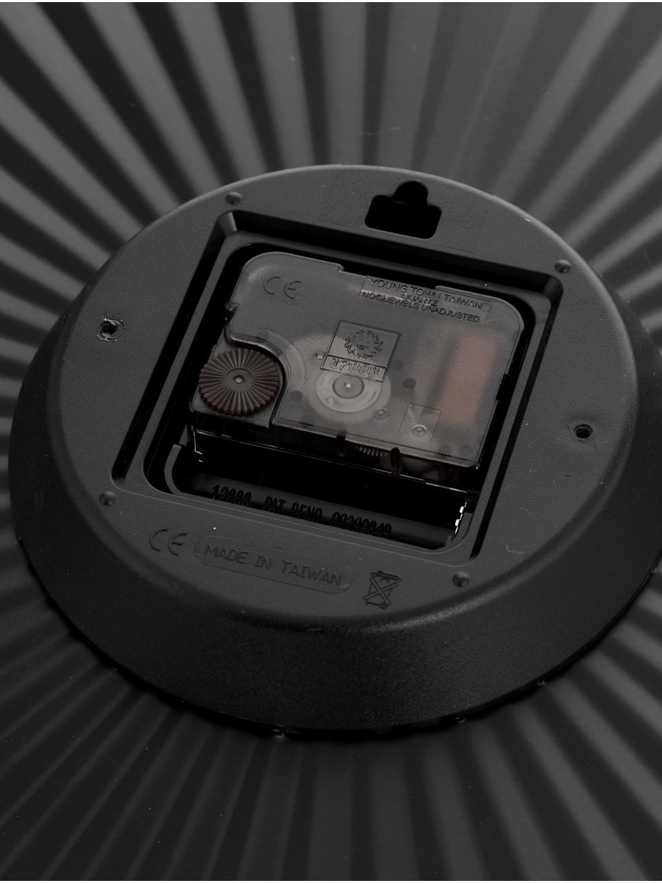 Reloj de pared Sensu, Agujas: metal, Negro, Ø 40 cm