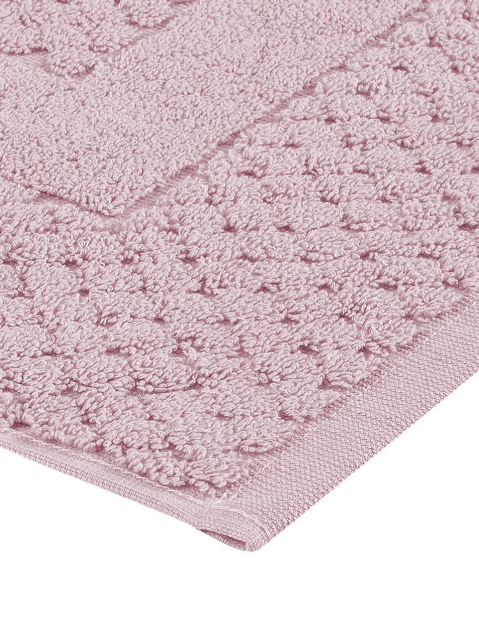 Badvorleger Katharina in Rosa, 100% Baumwolle, schwere Qualität, 900 g/m², Altrosa, 50 x 70 cm